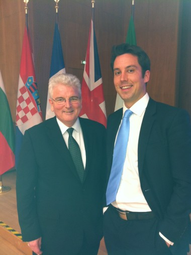 Eoghan with Lord Desmond Browne at the Symposium in Berlin