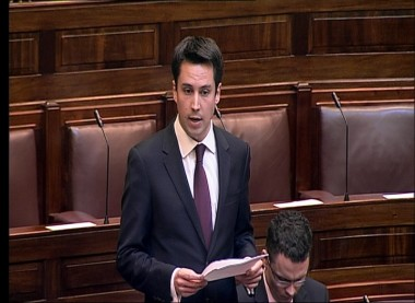 Eoghan speaking in the Dáil.