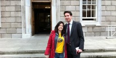 Eoghan with Brazilian Entrepreneur Bel Pesce at Leinster House