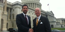 Meeting Congressman Robert B. Aderholt, member of the Helsinki Commission, outside Capitol Hill in Washington D.C.