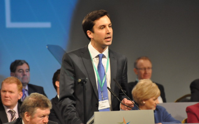Eoghan at the Fine Gael Ard Fheis