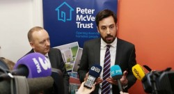22/11/2017 Peter McVerry Trust beds. Pictured is Eoghan Murphy TD, Minister for Housing, Planning and Local Government, with Pat Doyle, CEO of the Peter McVerry Trust, as they launched the DRHE's Cold Weather Strategy during a visit to the first of the new permanent emergency beds facilities which will be operated by the Peter McVerry Trust on the Cabra Road. Photographer: Sam Boal / RollingNews.ie