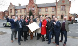 """NO REPRO FEE 05/12/2016. """"Dublin City Council, SEAI, Codema, Watt Less and St Patrick's Credit Union all gathered with staff from St Andrew's Resource Centre to mark the Better Energy Communities project which upgraded 120 lights in the centre to LEDs and will result in energy savings of over euro15,000 per year."""" You might want to add as an aside that they can contact suzanne.fitzpatrick@codema.ie for further info on this project. Photography: Sasko Lazarov/Photocall Ireland"""